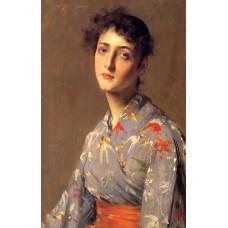 Girl in a Japanese Kimono