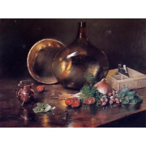Still Life Brass and Glass