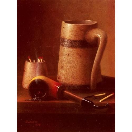 Still Life Pipe And Mug