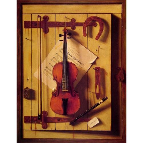 Still Life Violin and Music