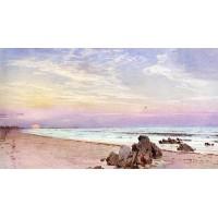 Beach with Rising Sun New Jersey
