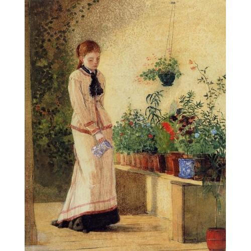 Girl Watering Plants