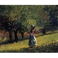 Girl with a Hay Rake