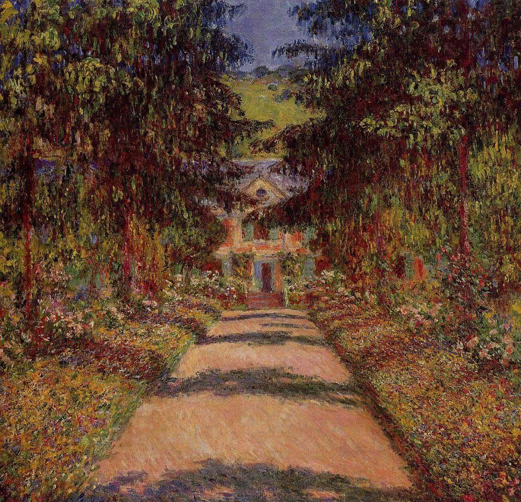 The Main Path at Giverny - Monet - oil painting reproduction - China ...