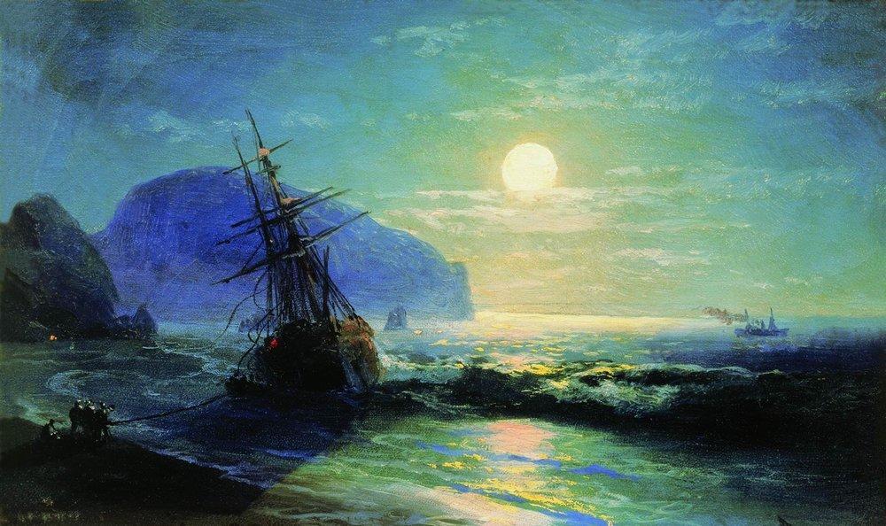 shipwreck near gurzuf 1898 ivan aivazovsky oil