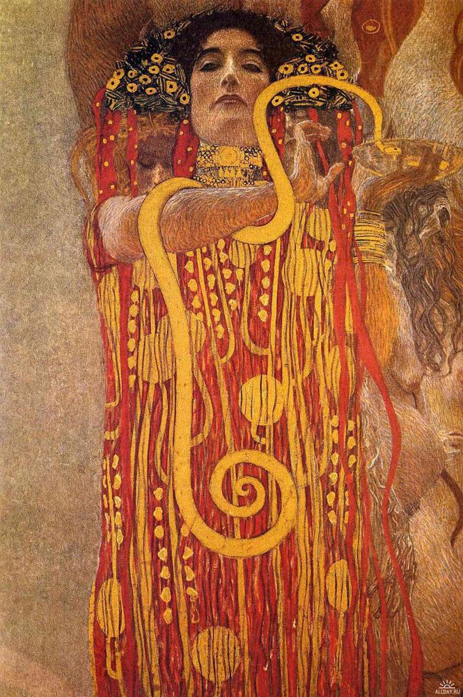 Klimt Medicine Hygeia detail of medicine 1 - klimt - oil painting ...