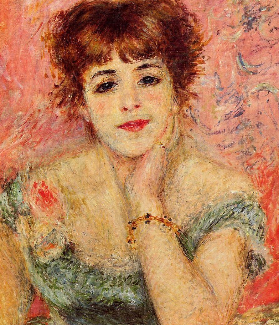 Jeanne samary la reverie renoir oil painting for Auguste renoir