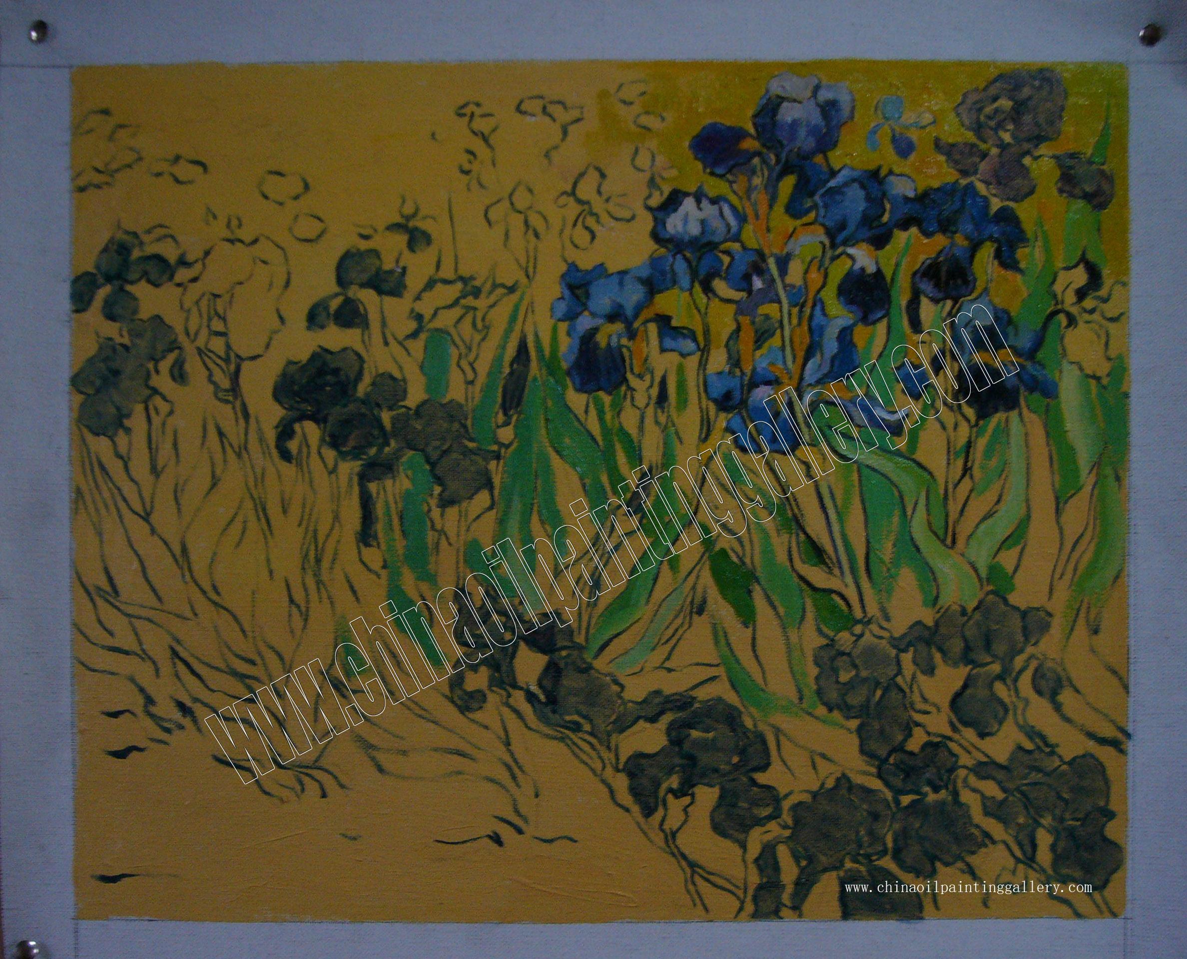 Irises Van Gogh Oil Painting Reproduction China Oil